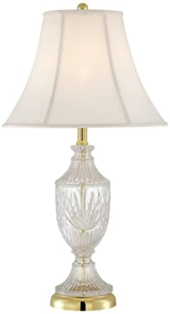 Captivating Cut Glass Urn With Brass Accents Table Lamp
