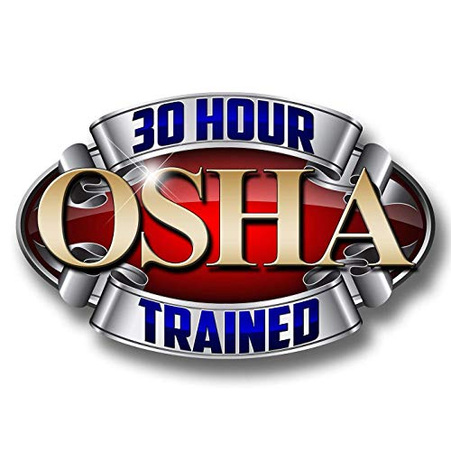 """Edwin Group of Companies 30 Hour OSHA Trained Hard Hat Deluxe Funny Vinyl 