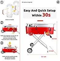 Quick Set-up Waterproof Weather Resistant Rip-Resistant Cover Starwide go Charcoal Grill with BBQ Fan and Tools Portable Barbecue Grill for Outdoor Grilling and Camping hookX2