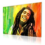 """Alonline Art - Bob Marley Jamaican Reggae Singer Alonline Designs PRINT On CANVAS (Synthetic, UNFRAMED Unmounted) 41""""x31"""" - 105x79cm Paintings Canvas For Kitchen Artwork Wall Art Pictures Oil Paint"""