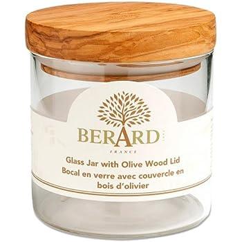 Amazon.com: Berard Glass Storage Jar with Olive Wood Lid ...