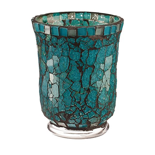 Votive Moon Blue (Amber Home Goods Blue Moon Glass Hurricane, Small)