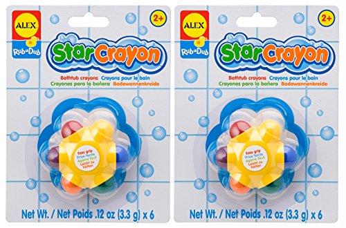 ALEX Toys Rub a Dub Star Crayon (2-Pack), Multicolor
