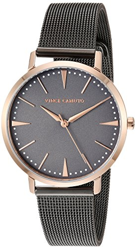 Vince Camuto Women's VC/5345GYRT Rose Gold-Tone and Gunmetal Mesh Bracelet Watch