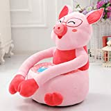 MAXYOYO Super Cute Plush Toy Bean Bag Chair Seat for Children,Cute Animal Plush Soft Sofa Seat,Cartoon Tatami Chairs,Birthday Gifts for Boys and Girls (pig)