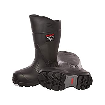 Boots-Rubber Safety Toe, 4, Black