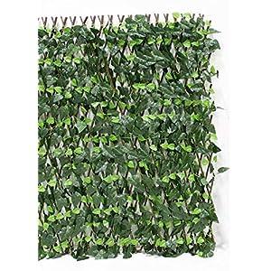 "Events & Crafts Accordion Ivy Lattice Fence 8' 4"" - Faux Ivy Trellis 1"