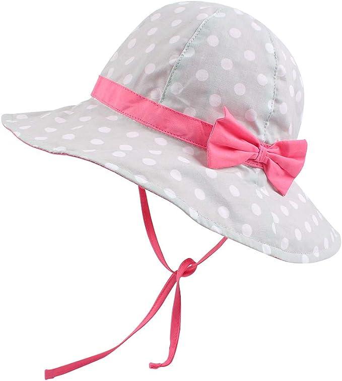Sun-Hats Bucket Kids Girls Toddler Summer Sun Protection Beach Hat Fishing Cap Fit for 3-7Yrs
