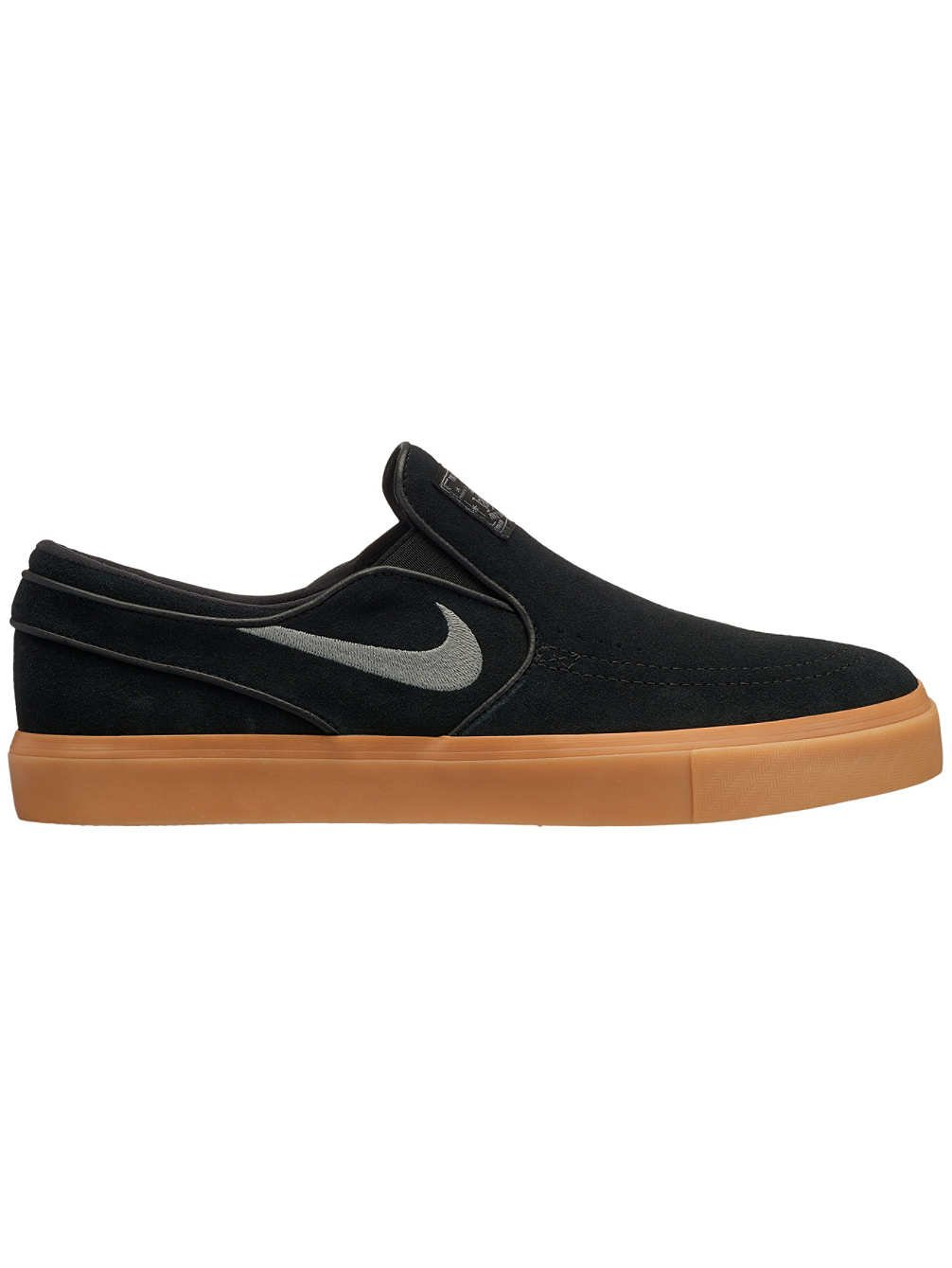 Nike Zoom Stefan Janoski Slip, Zapatillas de Deporte para Hombre 45.5 EU|Multicolor (Black/Gunsmoke/Gum Light Brown 005)