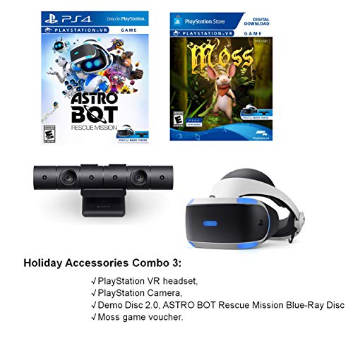 Choose Your Holiday Playstation 4 or PS4 VR System: Sony PS 4 Slim 1TB Console, PS VR Headset, PS Camera, Dual Shock 4 Wireless Controller, Game: Spider-Man, Astro Bot Rescue Mission, Moss Game
