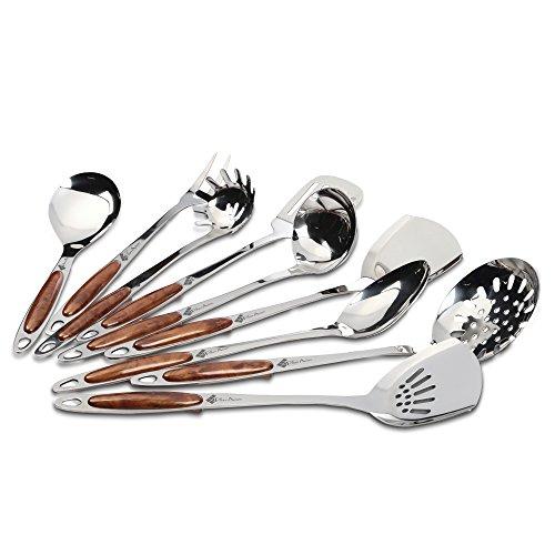 Professionals' 9 Piece Stainless Steel Kitchen Utensil Set - for Restaurant Chef's (9 Piece Utensil)