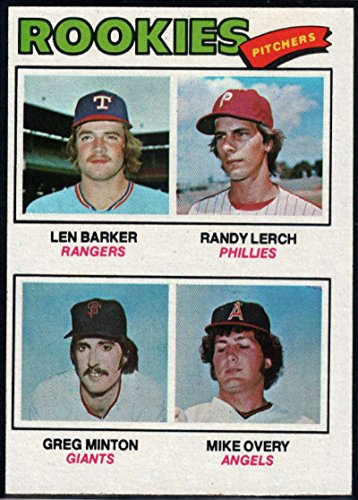 Baseball MLB 1977 Topps #489 Len Barker/Randy Lerch/Greg Minton/Mike Overy Rookie Pitchers - Minton Pitcher