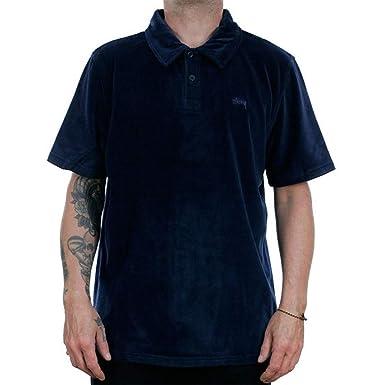 805a695521 STÜSSY Homme Poloshirt Victor Polo Navy: Amazon.fr: Vêtements et ...