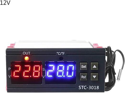 Temperaturregler DC 24V  20 ~ 100 ℃ Digitaler Thermostatregler mit