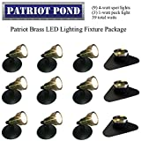 Patriot Brass LED Waterproof Pond and Landscape Lighting Fixture ONLY Kit PF-F4