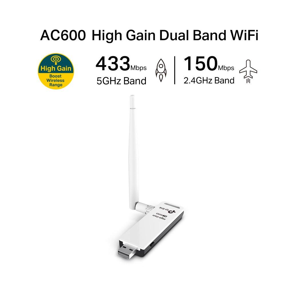 K.S. TP-LINK Wireless Archer T2UH 802.11ac AC600 Dual Band 2,4/5GHz USB: Amazon.es: Informática