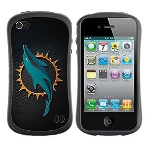 Suave TPU Caso Carcasa de Caucho Funda para Apple Iphone 4 / 4S / Dolphin Sn Carbon Art / STRONG