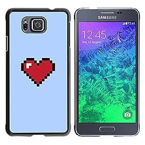 YOYOYO Smartphone Protección Defender Duro Negro Funda Imagen Diseño Carcasa Tapa Case Skin Cover Para Samsung GALAXY ALPHA G850 - 8 bits ordenador pc juego retro rojo púrpura