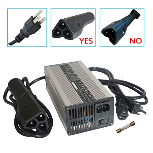 Abakoo New 48V 6A RXV Golf Cart Battery Charger for Star Ez-Go Club Car DS EZgo TXT Yamaha with RXV Plug 3 (Best Yamaha Golf Carts)