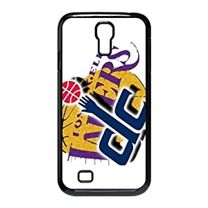 Cutomize Los Angeles Lakers Scratch-Resistant Case Soft TPU Skin for Samsung Galaxy s4 i9500 Cover - Black/White