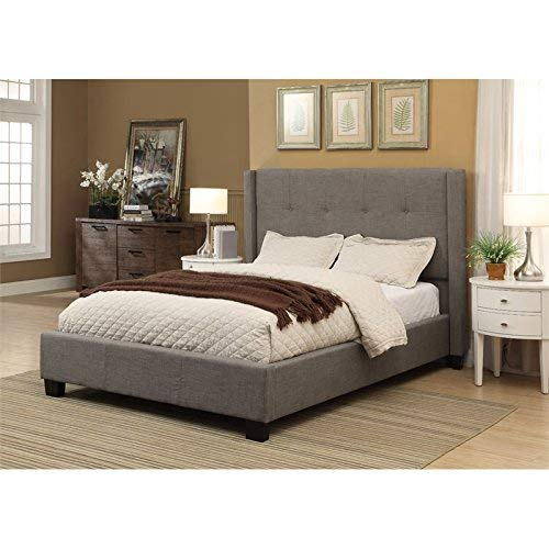 - Modus Furniture 3ZH3D57 Madeleine Wingback Platform Storage Bed, Queen, Dolphin
