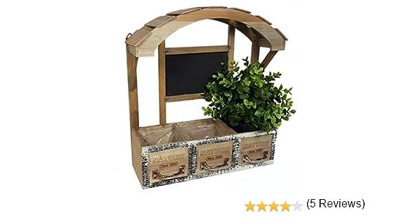Madera Jardinera – Jardinera decorativa – Retro Flores estante ...