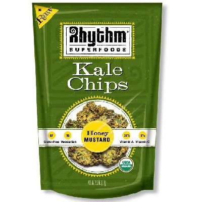 Rhythm Superfoods Organic Honey Mustard Kale Chips, 2 Ounce -- 12 per case. by Rhythm Superfoods