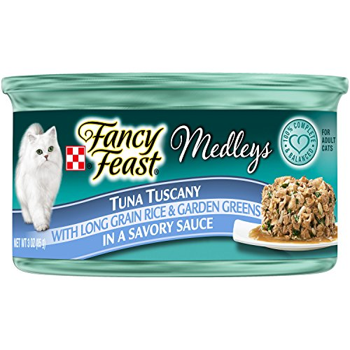 Purina Fancy Feast Tuna Tuscany Cat Food - (24) 3 oz. Pull-top Can