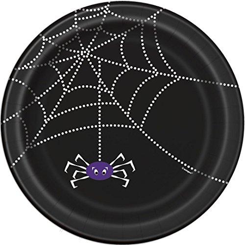 Spider Web Halloween Dessert Plates, 8ct