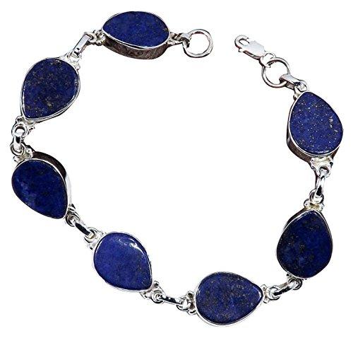 Sitara Collections SC10542 Sterling Silver Bracelet Lapis Lazuli