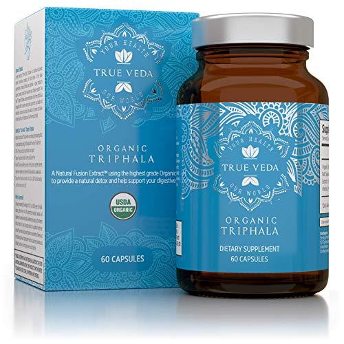 (Organic Triphala Veggie Capsules - USDA Organic Certified | 100% Natural Herbal Supplement | Supports Healthy Digestion | Natural Antioxidant | Ayurveda | 60 Easy Swallow Vegetarian Pills)