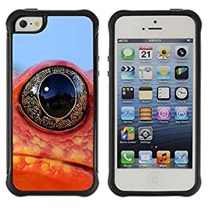 ZETECH CASES / Apple Iphone 5 / 5S / COOL FROG LIZARD NEON EYE / Guay rana lagarto neón ojo / Robusto Caso Carcaso Billetera Shell Armor Funda Case Cover Slim Armor