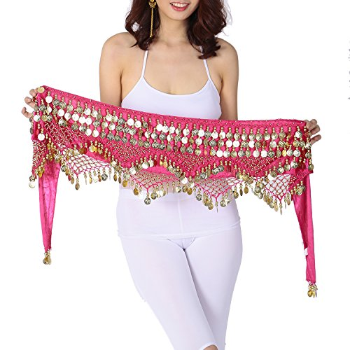 Velvet Egyptian Cabaret Tribal Fusion Belly Dance Hip Scarf Belt Skirt Wrap Sash - Cabaret Dance Belly