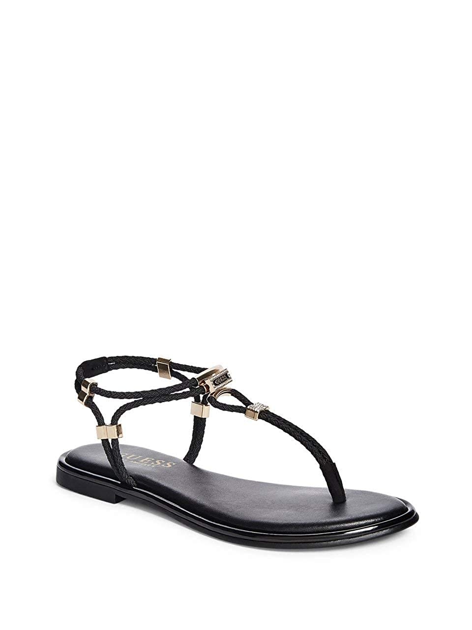 3de6ffd238823 GUESS Factory Women's Coin Stretch-Cord Strappy Sandals