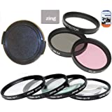 77mm Multi-Coated 7 Piece Filter Set Includes 3 PC Filter Kit (UV-CPL-FLD-) And 4 PC Close Up Filter Set (+1+2+4+10) For Nikon 70-200mm f/2.8G ED VR II AF-S Nikkor Zoom Lens + Lens Cap + Cap Keeper + MicroFiber Cleaning Cloth + LCD Screen Protectors