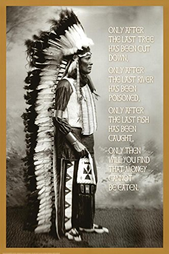 Chief White Cloud Native American Wisdom Art Poster Print
