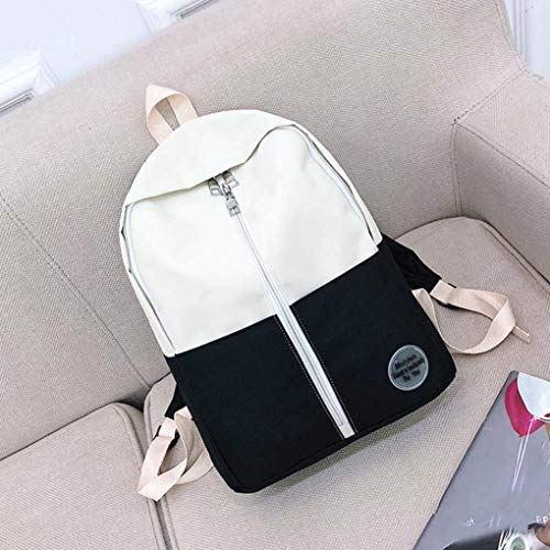 Teenage Fashion EUzeo Boys Bags Black Bag Students Patchwork Backpack School Girls Backpack qZqTExa