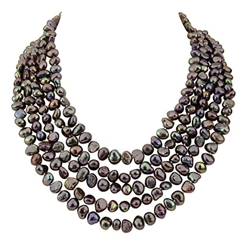 Freshwater Chocolate Pearl Necklace - 6