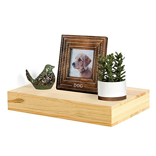 AHDECOR Natural Wood Deep Floating Wall Shelves, Solid Pine, Display Ledge Shelf Storage with Invisible Blanket (12 inch, Clear Coat Finish) by AHDECOR (Image #7)