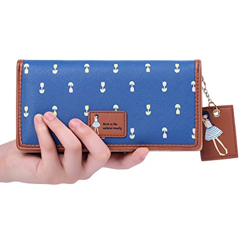Clutch Wallet Zip Bag Card Holder (Blue) - 4