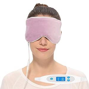 Aroma Season Electric Hot Steam Cotton Silk Blepharitis Eye Mask, Treatment for Migrianes, Dry Eyes, Dark Circle, Puffy Eyes, Styes, Chalazion (Purple)