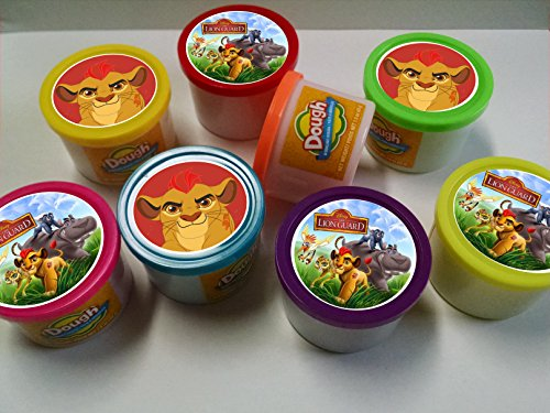 Unbranded 8ct Lion Guard Mini Dough Birthday Party Favors