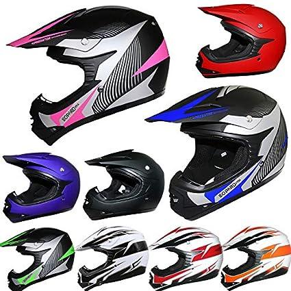 Brand:Leopard | LEO-X19 Children Kids Motocross Full Face Motorbike Helmet - X19 Red M (51-52cm) - Off Road ECE-2205 Approved Touch Global Ltd