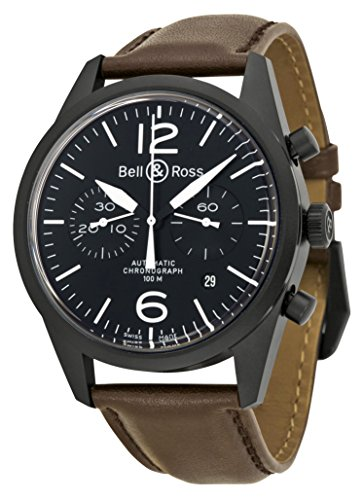Bell-and-Ross-Black-Dial-Chronograph-Brown-Leather-Automatic-Mens-Watch-BRV126-BL-CA-SCA