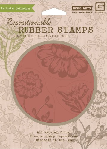 Hero Arts Rubber Stamps Indie Bloom Bold Blooms Cling Stamp ()