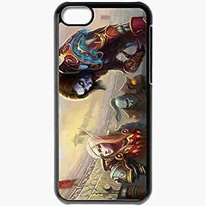 Personalized iPhone 5C Cell phone Case/Cover Skin Art Elf Monster Freak Black