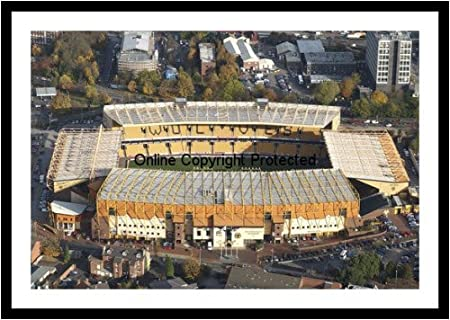 Framed Wolverhampton Wanderers Molineux Stadium Aerial View Photo ...