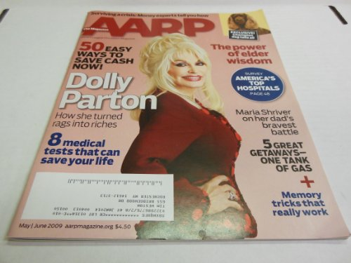 AARP May/june 2009 Dolly Parton How She Turned Rags for sale  Delivered anywhere in USA