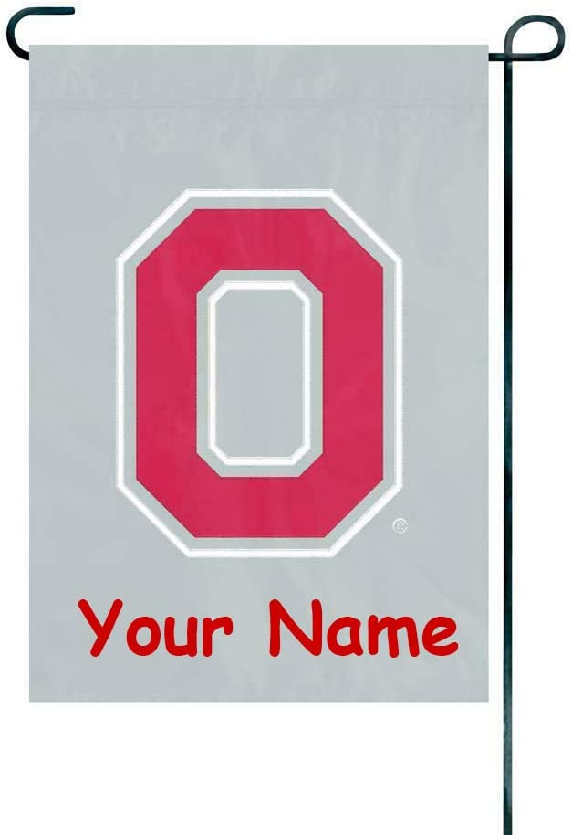 Party Animal Ohio State Buckeyes NCAA Officially Licensed Heavyweight Nylon Applique and Embroidered Garden Flag - 18 inches x 12.5 inches