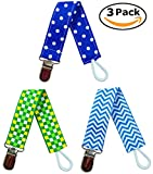 EliteBaby Pacifier Clip Holder for Boys | 3 Pack | Baby Shower Gifts